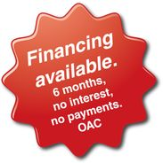 Financing available. 6 months, no interest, no payment. OAC
